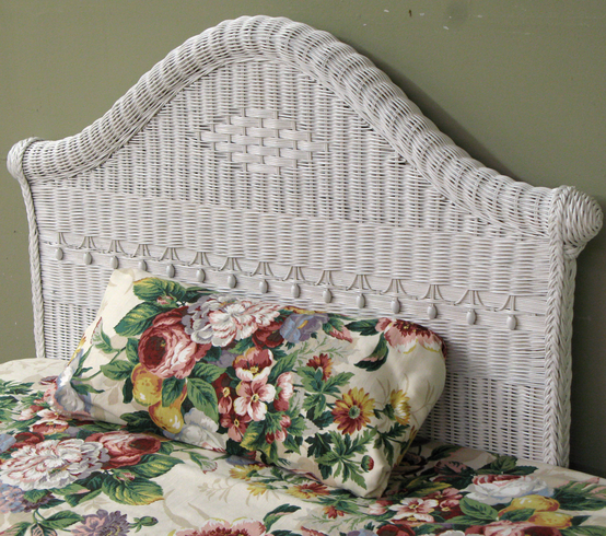 Victorian Twin Wicker Headboard Wicker Paradise