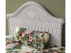 Victorian Twin Wicker Headboard