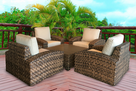 Westbury Outdoor Wicker Chat Group