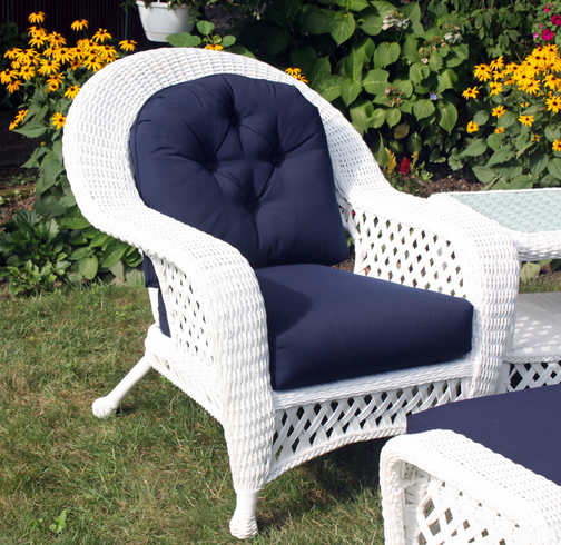 White Outdoor Wicker Chair: Montauk Collection Part 50