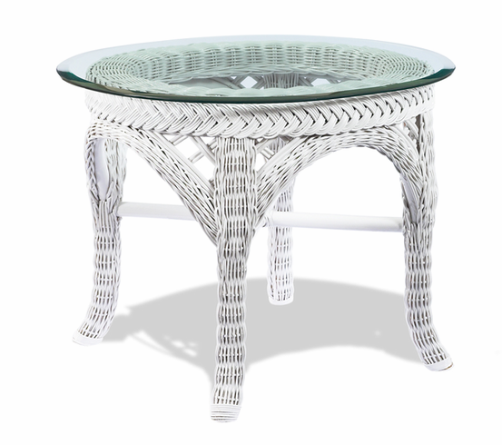 White Wicker End Table Lanai Wicker Paradise