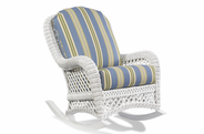 Wicker Rocker - Lanai White