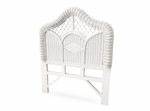 White Wicker Twin Headboard Regency