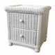 Wicker 2 Drawer Nightstand - Elana