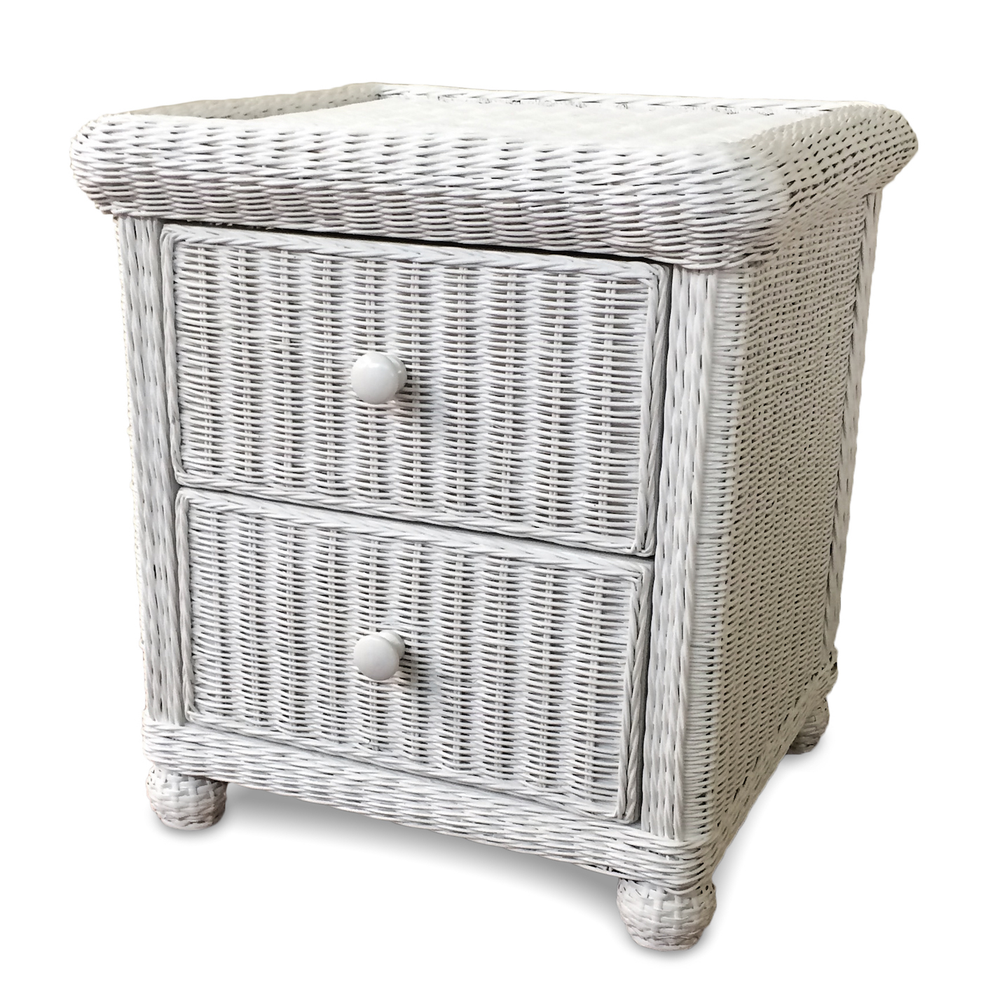 Wicker 2 Drawer Nightstand Elana