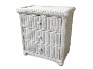 Wicker 3 Drawer Dresser - Elana