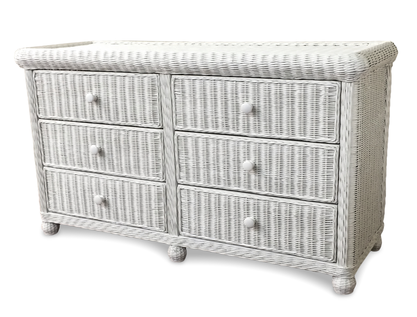 Wicker 6 drawer dresser elana wicker paradise White wicker bedroom furniture