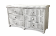 Wicker 6 Drawer Dresser - Elana
