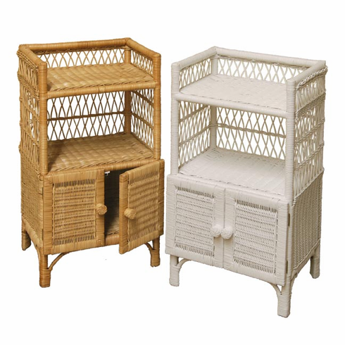 wicker bathroom stand