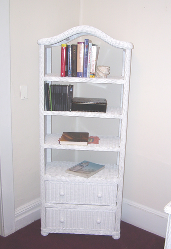 Wicker Bookcase - Elana Large