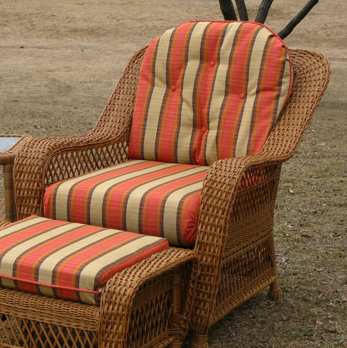 - Chair Cushion Set - Wicker Style