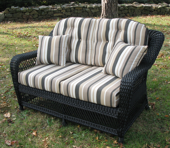 Loveseat cushion set wicker style for Sofas mimbre exterior