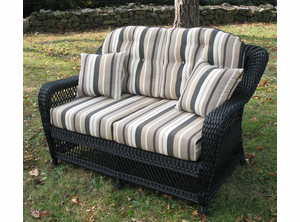 Captivating Loveseat Cushion Set   Wicker Style