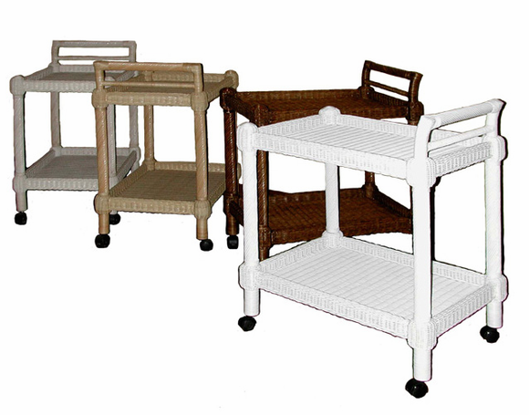 Wicker Serving Cart