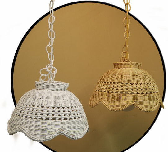 sc 1 st  Wicker Paradise & Wicker Swag Lamp
