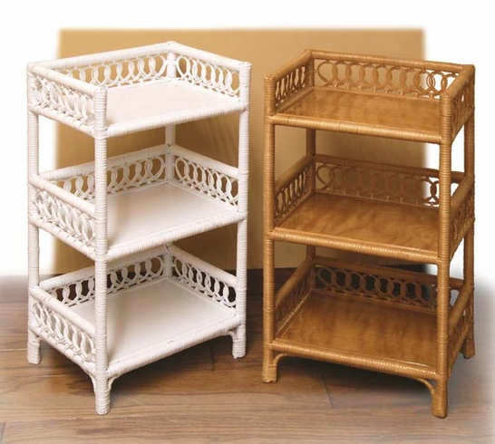 Wicker Three Tier Stand
