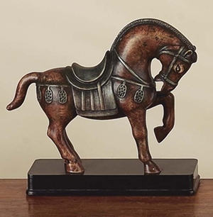 Polystone Tang Horse Unique Table Accent - 22465 by Benzara