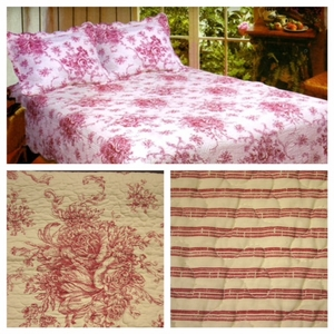 100% Cotton French Country Red Sham by American Hometex