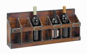 Wine Rack With 7 Bottles Hold Of Standard Size - 54417 by Benzara