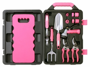 Apollo Tools 11 Piece Garden Tool Kit  Pink