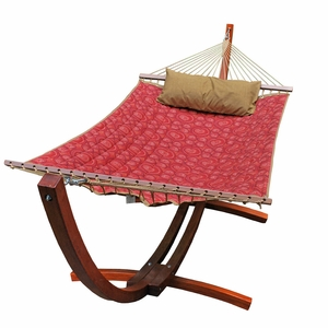 12' Arc Stand and Fabric Hammock with Pillow by Algoma