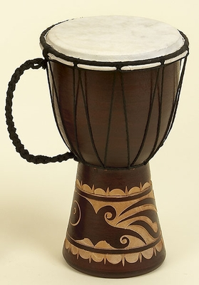 WOOD LEATHER DJEMBE DRUM FORDecor WITH MUSICAL BLEND - 89848 by Benzara