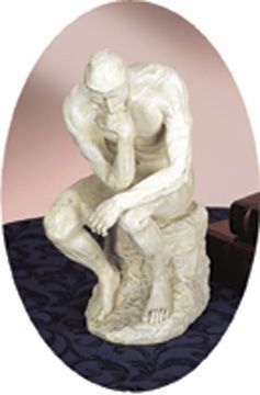 POLYSTONE THINKER STATUE FOR GREATDecor LOVERS - 75138 by Benzara
