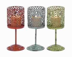Beautiful Metal Candle Holder 3 Assorted with Unique Style - 34900 by Benzara