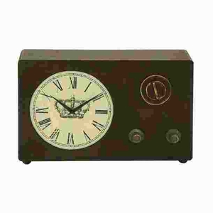 "12""H Classic Wood Clock with Roman Numerals and Vintage Look  - 50960 by Benzara"