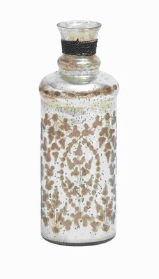 Petite And Attractive Glass Bottle Distinctive Style - 27903 by Benzara