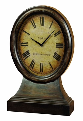WOOD TABLE CLOCK LOOKS LIKE COORDINATING ANTIQUE TABLEdecor - 48184 by Benzara