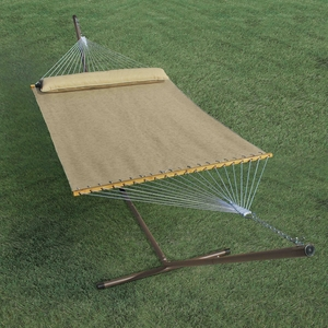 13' Quick Dry Tanned Hammock with Pillow by Algoma
