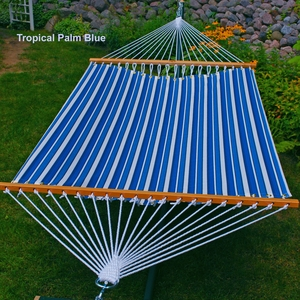 13' Tropical Palm Stripe Blue Hammock by Algoma