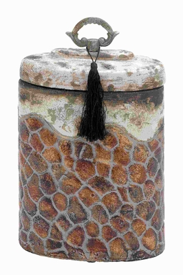 Ceramic Jar With Beautiful Shades And Smooth Finish - 64883 by Benzara