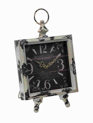Clock with Square Shaped Dial in Intricate Design - 50215 by Benzara