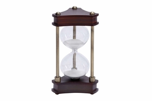 Wood Metal Glass Sand Timer Must To Have For Maritime Collector - 58193 by Benzara