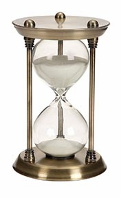Metal/Glass Quarter Hourglass With 15 Minutes Time Interval - 58155 by Benzara