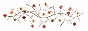 Metal Wall Decor With Flowers Loaded Twig - 13882 by Benzara