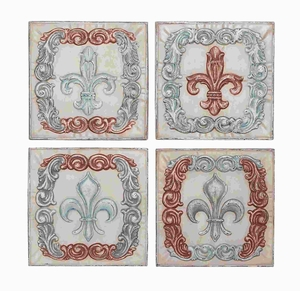 "16"" H Metal Wall Decor 4 Assorted With Intricate Motifs - 52766 by Benzara"