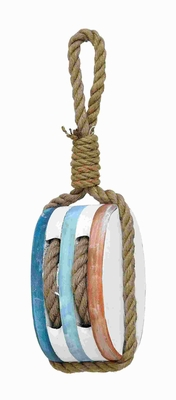 "16""H Unique Wood Rope Nautical Decor with High Decorative Finish  - 78723 by Benzara"