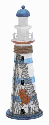 Wood Lighthouse in Marine Theme and Beautiful Colors - 78716 by Benzara