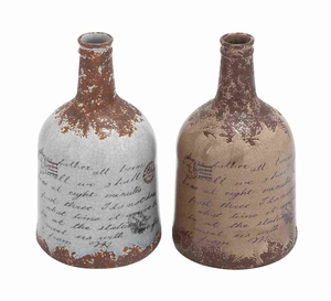 Prime Quality Ceramic Vase with Aesthetic Detailing 2 Assorted - 78653 by Benzara