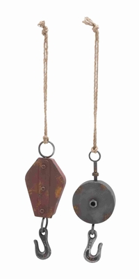 2 Assorted Traditional Metal Hook with Contemporary Appeal  - 92346 by Benzara