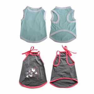 2 Pack Pretty Pet Apparel without Sleeves - Small