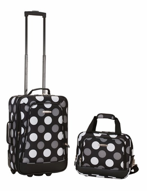 2 Pc New Blk Dot Luggage Set