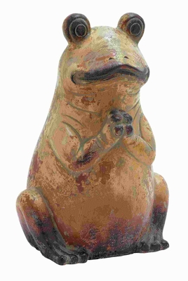 """20"""" H Modern Ceramic Frog With Rustic And Antique Finish - 64862 by Benzara"""