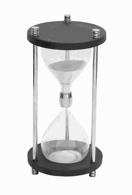 Metal Glass Sand Timer with Real Sand - 46679 by Benzara