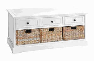 "20""H Unique Wood Basket Cabinet Crafted with Fine Detailing  - 96189 by Benzara"