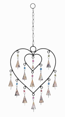 "21""H Delightful Wind Chime with Adorable Small Heart Inside  by Benzara"