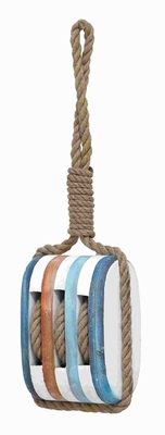 Wood Rope NauticalDecor with Fine Detail and Bright Color - 78722 by Benzara